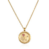 Libra Zodiac Necklace Gold