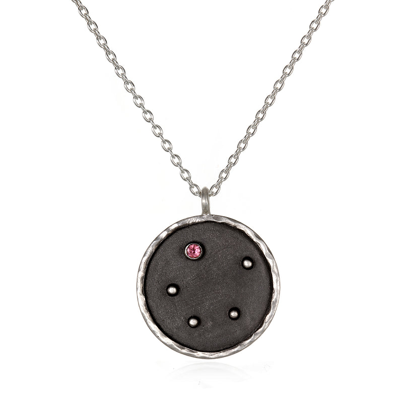 Silver Zodiac Libra Tourmaline Necklace - Satya Jewelry