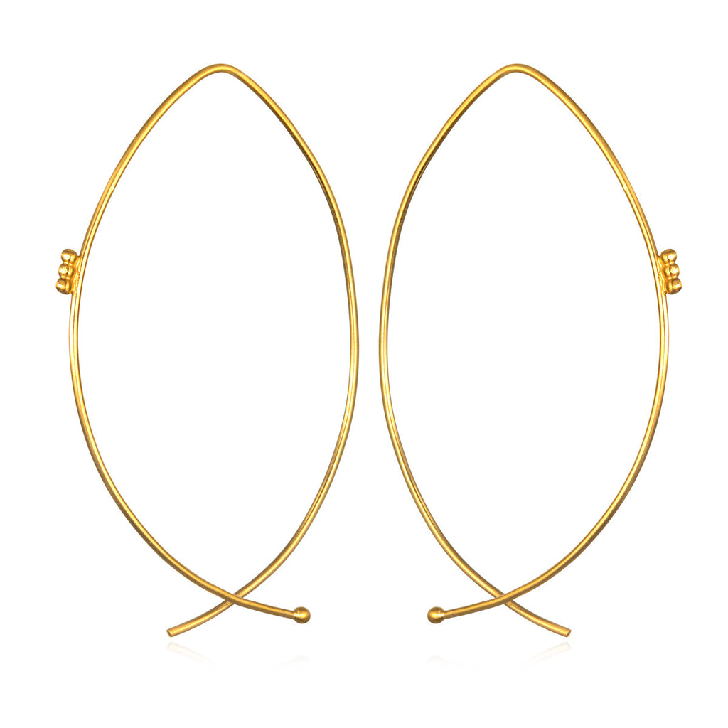 Modern Muse Hoop Earrings - Gold