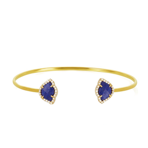 Commence the Journey Lapis and White Diamond Bracelet
