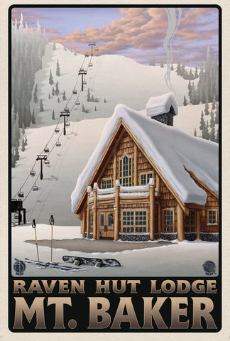 The Raven Hut Lodge Poster