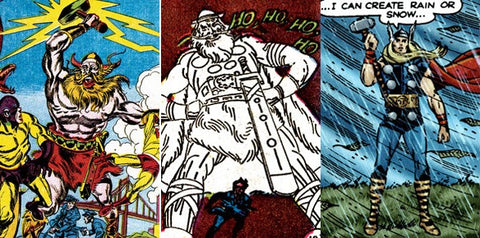 Jack's multiple versions of the Thor character.