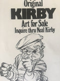 Jack Kirby Promotional Flyer from the 1970's - Jack Kirby