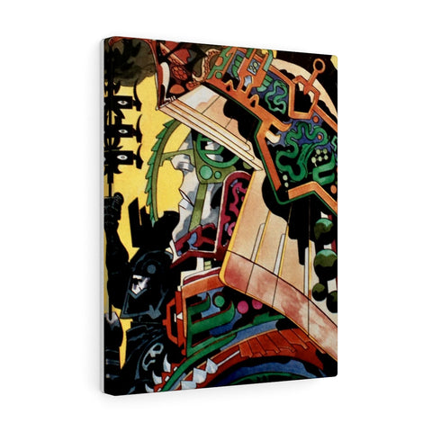 Jack Kirby Warrior Canvas - Jack Kirby