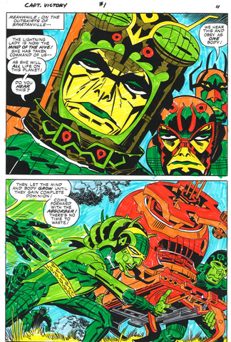 Jack Kirby Combined Care Package Sky Masters & Captain Victory