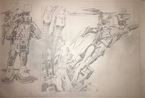 Jack Kirby Animation Art Stat A1