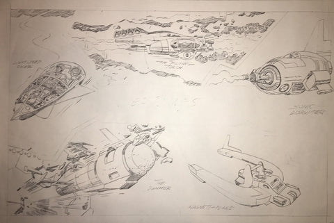 Jack Kirby Animation Flying Vehicle Stat - Jack Kirby
