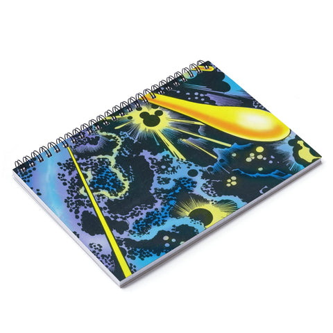 Kirby Krackle Spiral Notebook - Ruled Line