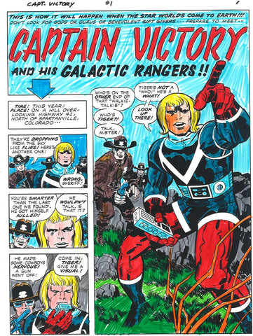 Jack Kirby Captain Victory Care Package