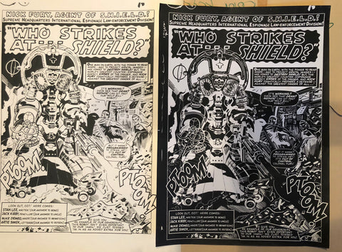 One-of-a-kind set Nick Fury Agent of Shield - Jack Kirby