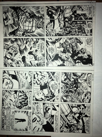 One-of-a-kind Fantastic Four #96 Page 26-27 photostat - Jack Kirby