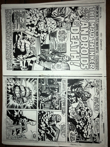 One-of-a-kind Fantastic Four #96 Page 1-2 photostat - Jack Kirby