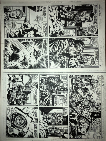 One-of-a-kind Fantastic Four #96 Page 3-5 photostat - Jack Kirby