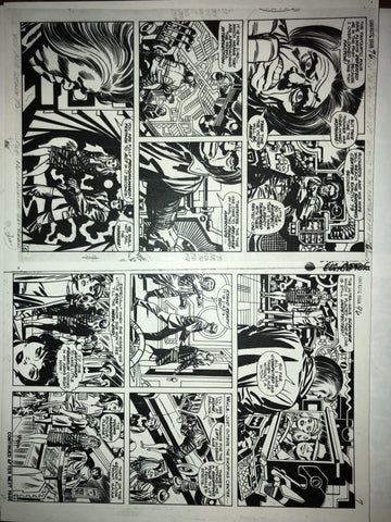 One-of-a-kind Fantastic Four #96 Page 6-7 photostat - Jack Kirby