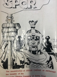 Extremely Rare Signed Jack Kirby Julius Caesar Poster