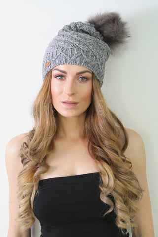 Light Grey Slouchy Beanie
