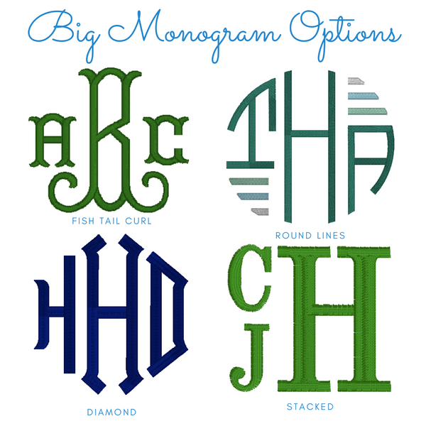 BIG Monogram Embroidered Crewneck Sweatshirts