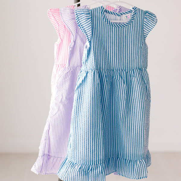 Girls Seersucker Dress - Summer Designs!