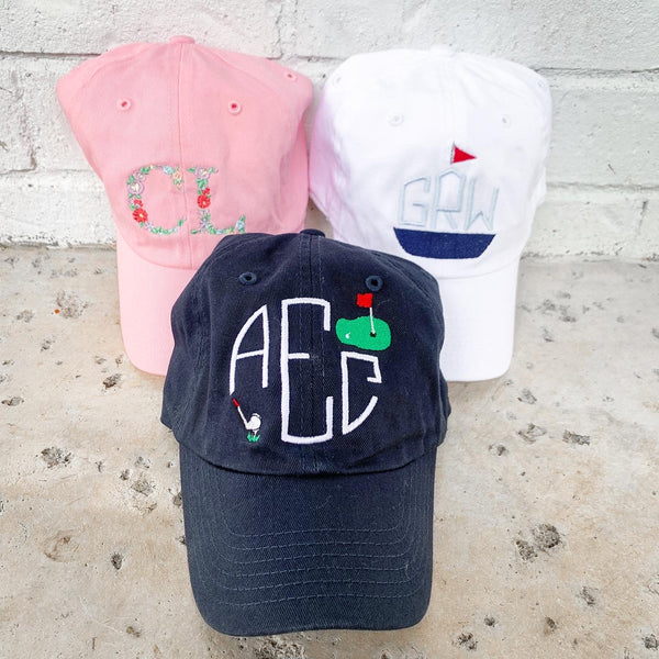 Youth Monogram Baseball Cap