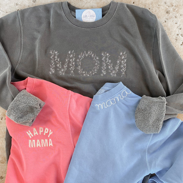 Floral MOM sweatshirt