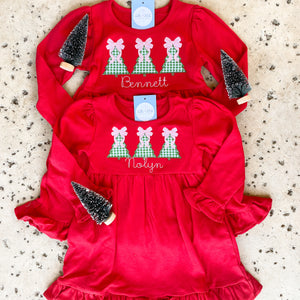 Girls Long Sleeve Knit Dress