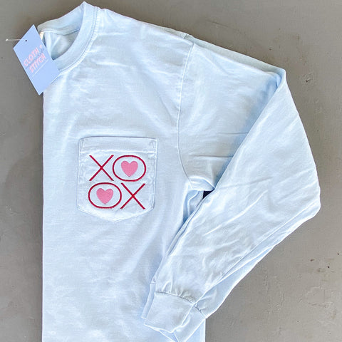 XO Long Sleeve Pocket Tee