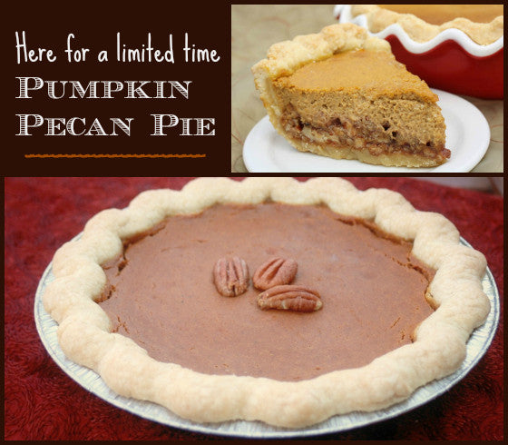 Limited Time: Pick Up a Pumpkin Pecan Pie