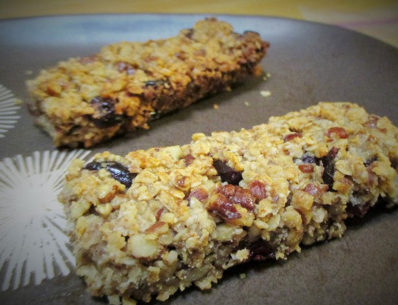 Chewy Cranberry Pecan Granola Bars