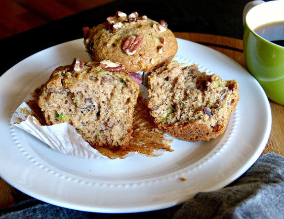 Recipe: Healthier Zucchini Muffins with Dates & Pecans