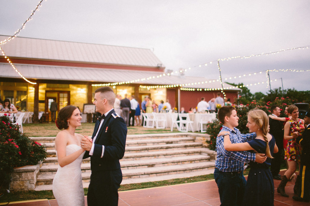 outdoor reception at royalty pecans