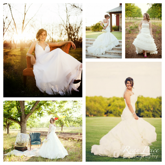 Bridal photos by Ryan Price taken at Royalty Pecan Farms