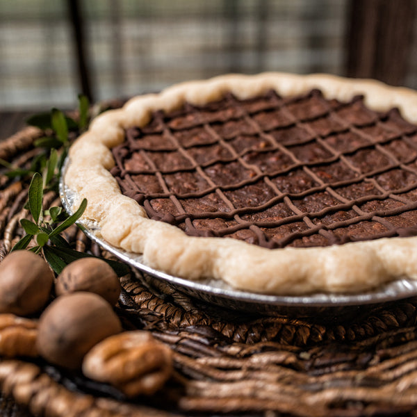 Cocoa Fudge Pecan Pie