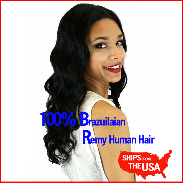 360 LACE FRONTAL WIG HUMAN HAIR Deep Wave Long Pre-Plucked Glueless Hand-Tied