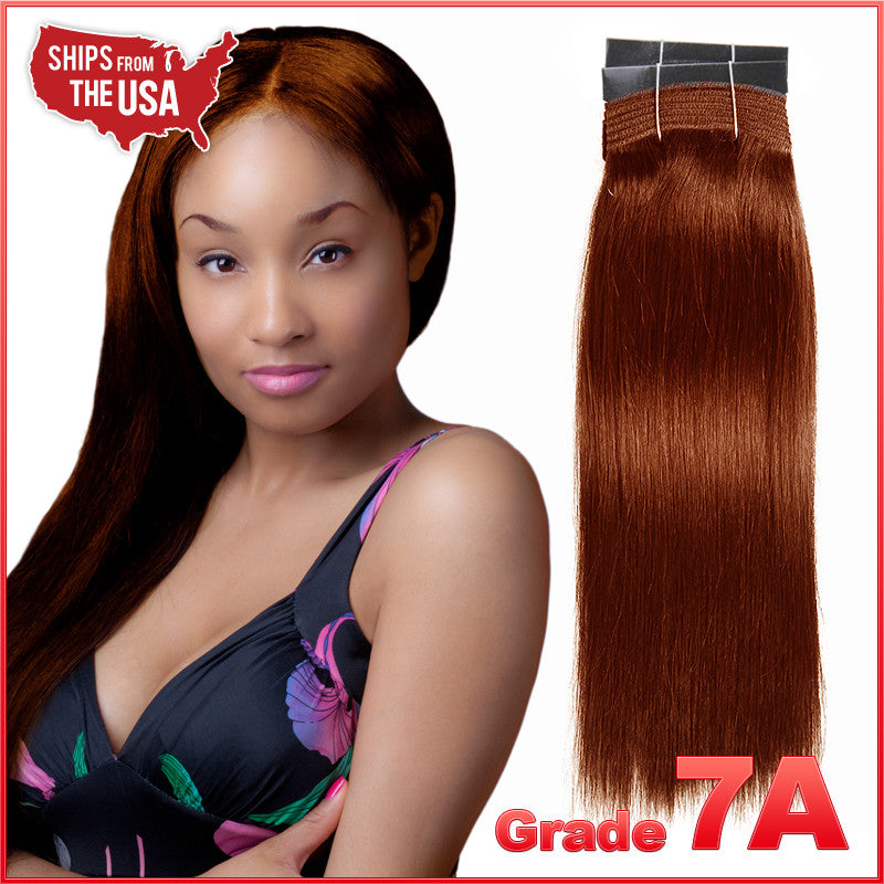Grade 7a 33 Dark Auburn Yaki Weaving 100 Virgin Remy Human