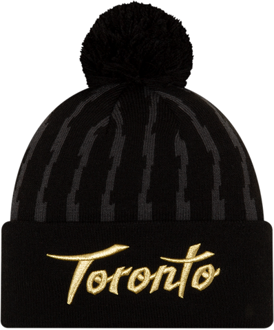 Toronto Raptors New Era Earned Cuffed Pom Toque