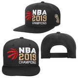 Toronto Raptors 2019 NBA Finals Champions Youth Snapback Adjustable Hat - Black