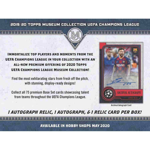 2020 Topps Museum UEFA Champions League Soccer Hobby Box