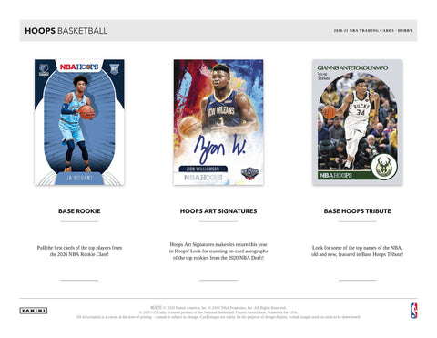 2020-21 Panini Hoops Basketball Hobby Box