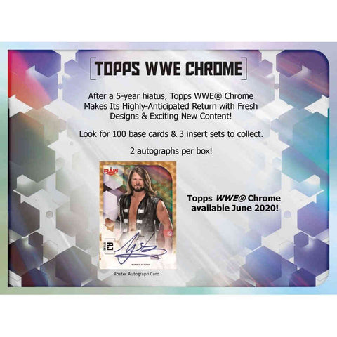 2020 Topps Chrome WWE Hobby Box