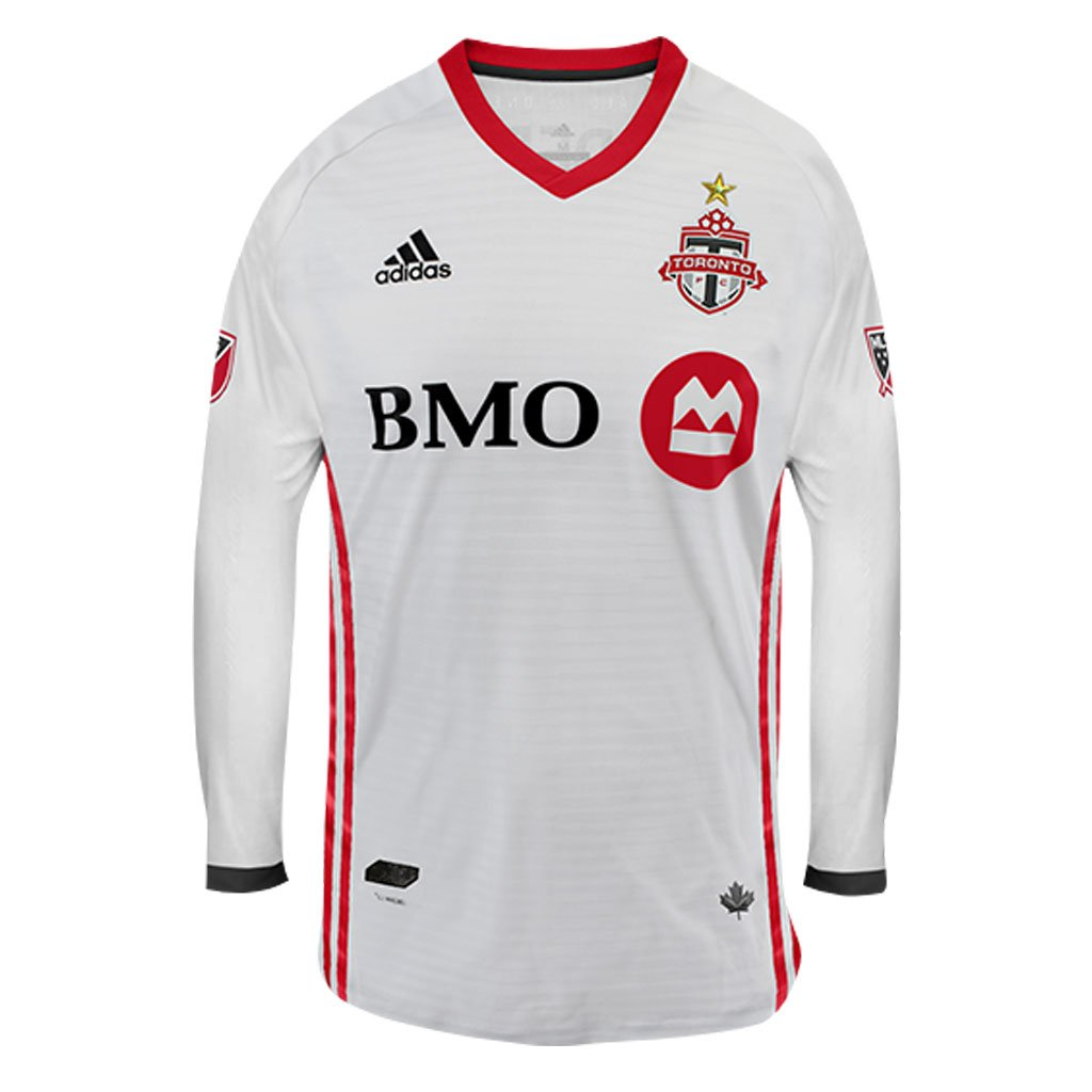 size 40 ef225 3b37c Toronto FC Adidas Men's Authentic L/S Jersey - White