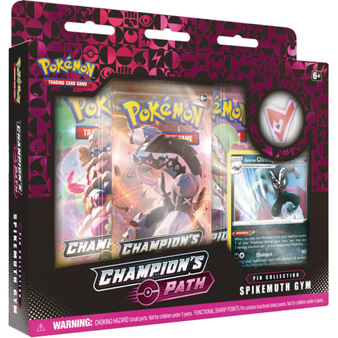 POKEMON CHAMPION'S PATH SPIKEMUTH GYM PIN COLLECTION