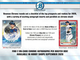 2020 Bowman Chrome Baseball HTA Jumbo box