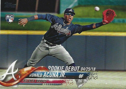 Ronald Acuna Jr. 2018 Topps Update Rookie Debut