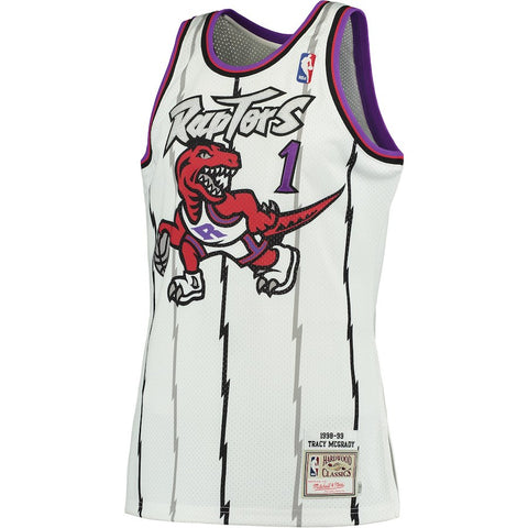 Men's Toronto Raptors Tracy McGrady Mitchell & Ness White 1998-99 Hardwood Classics Swingman Jersey