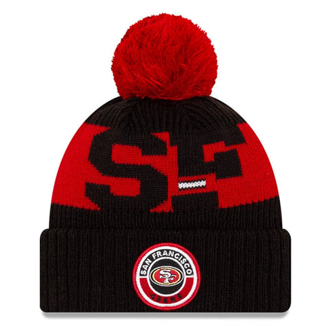 San Francisco 49ERS 2020 New Era On Field Sports Cuffed Pom Knit