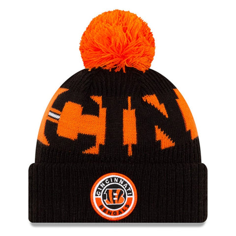 Cincinnati Bengals 2020 New Era On Field Sports Cuffed Pom Knit
