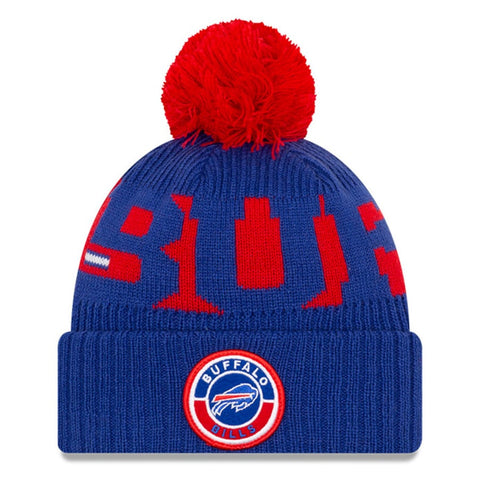Buffalo Bills 2020 New Era On Field Sports Cuffed Pom Knit