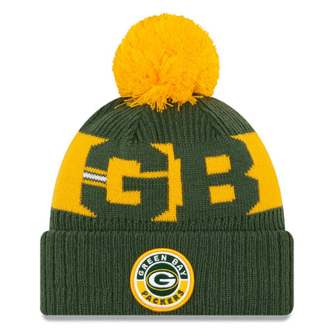Green Bay Packers 2020 New Era On Field Sports Cuffed Pom Knit