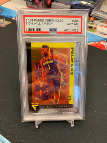 Zion Williamson 2019-20 Panini Chronicles Flux PSA 10 GEM MT