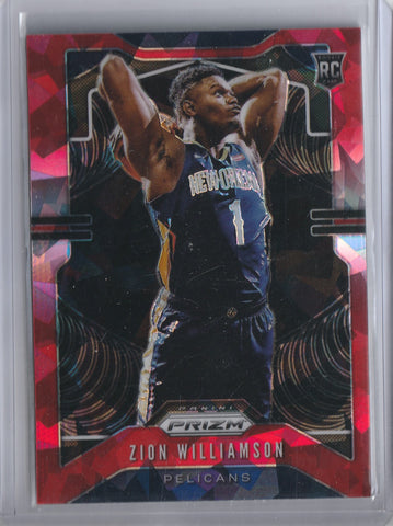 Zion Williamson 2019-2020 Panini Prizm Red Cracked Ice RC